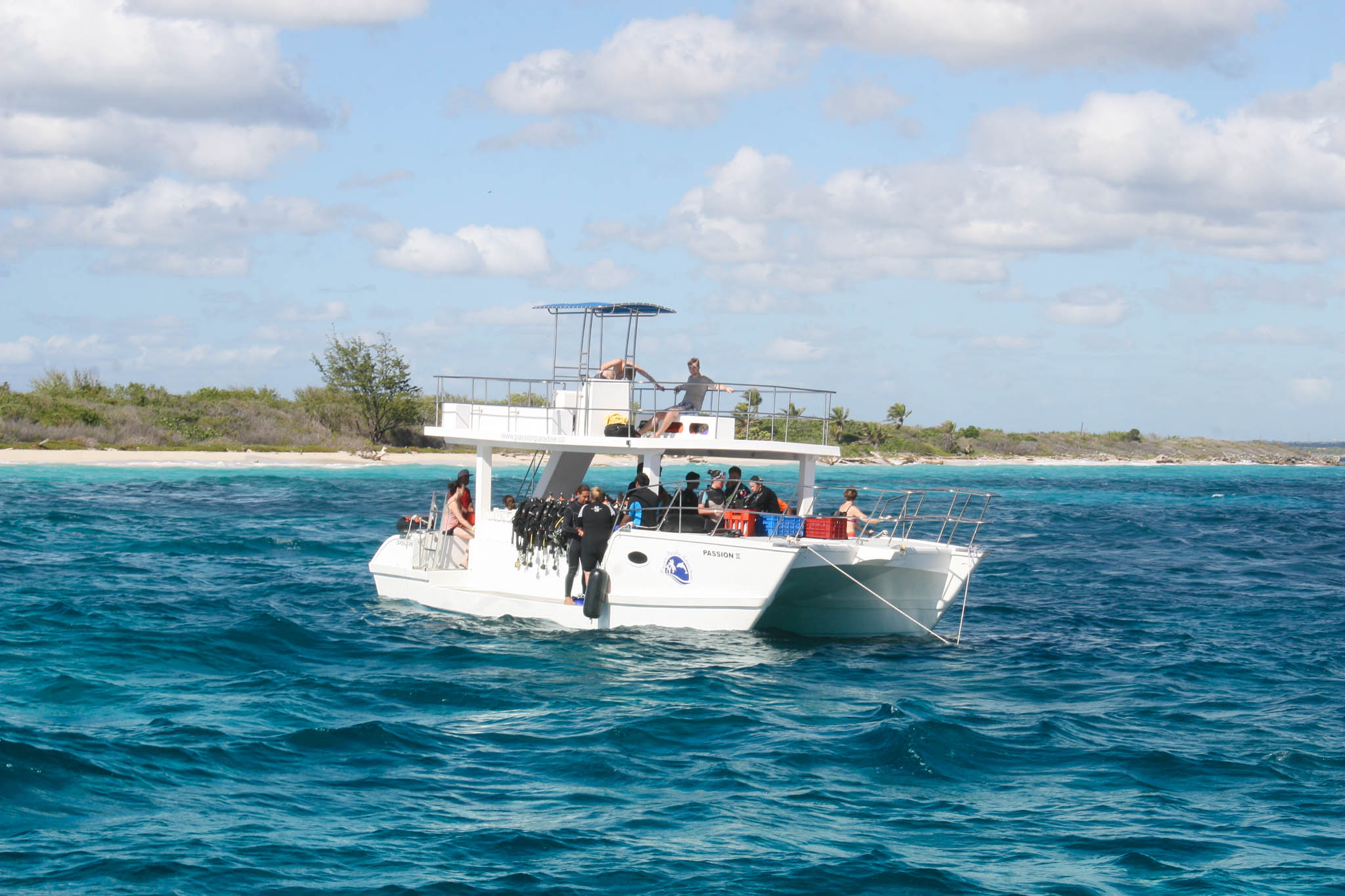 Purpose built scuba diving boat