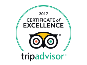 Passion Paradise 2017 TripAdvisor Certificate of Excellence